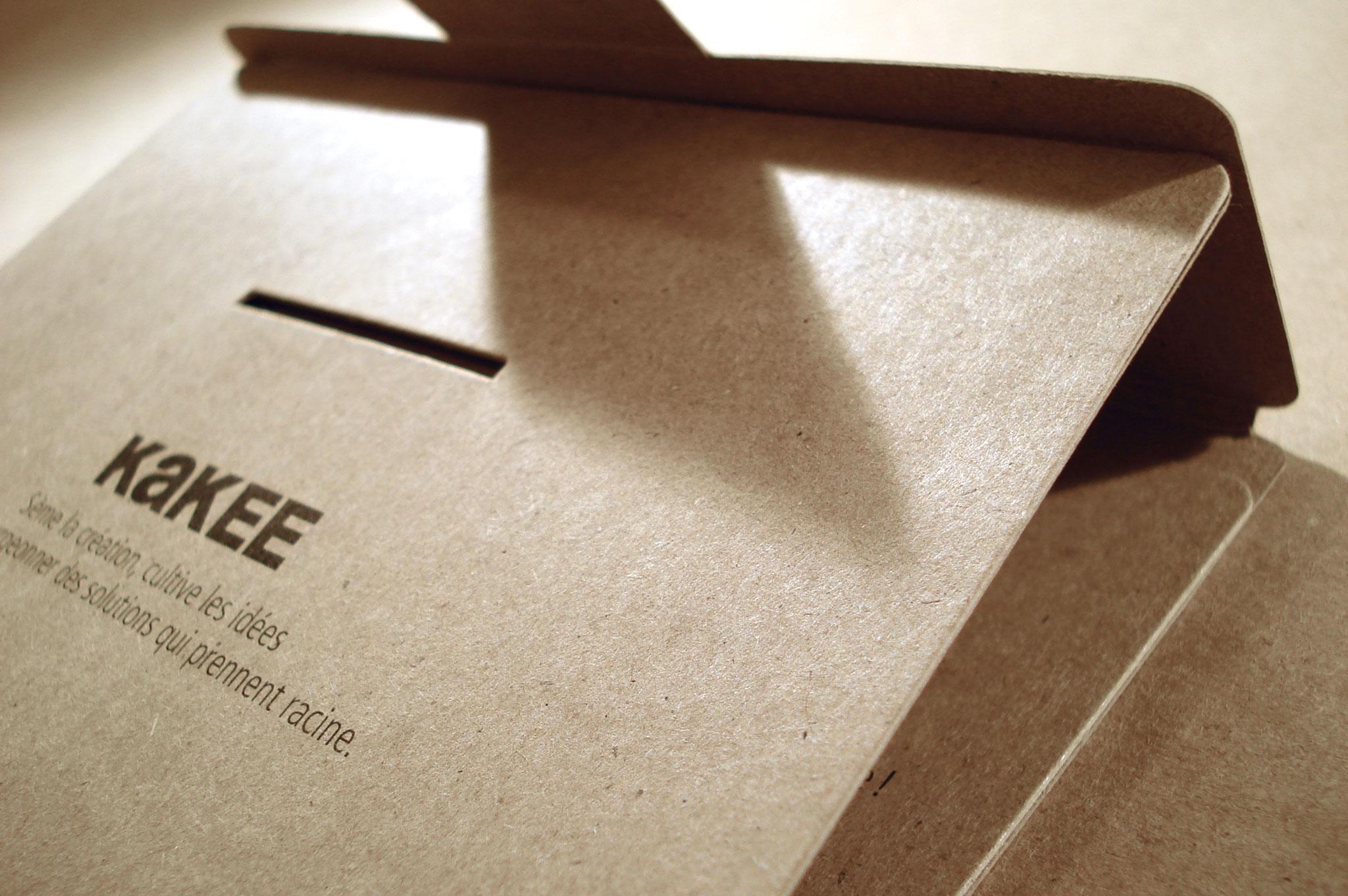 Les premiers outils promotionnels responsables de KAKEE.
