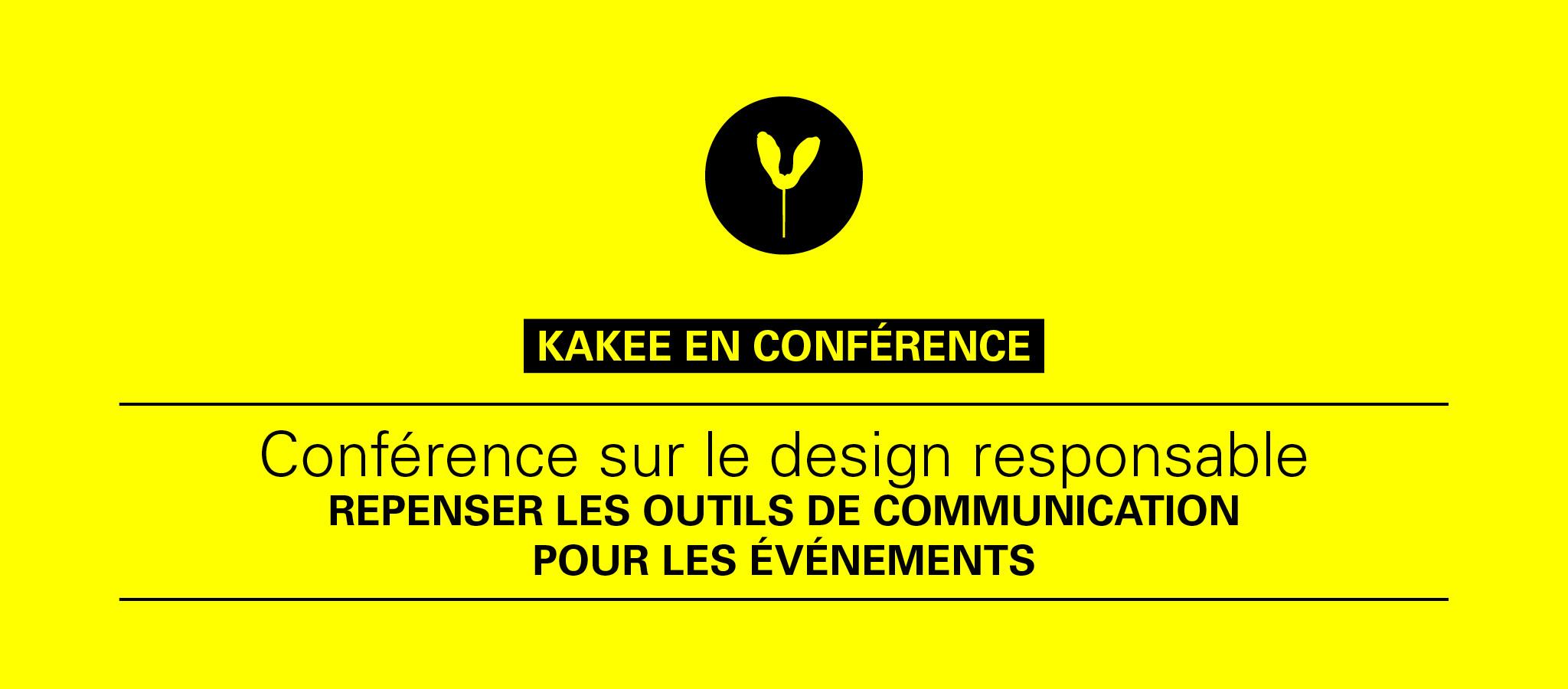 KAKEE donne une conférence à Tourisme Montréal sur le design responsable pour les événements.