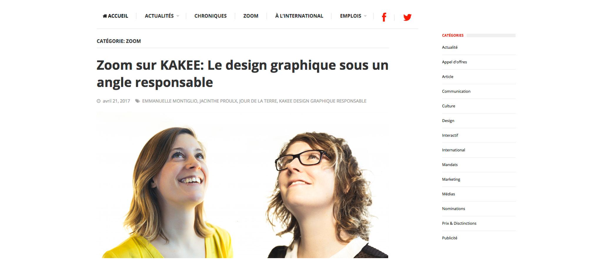 Dans le cadre du Jour de la Terre, Eristik a recontré l'équipe de KAKEE pour discuter du design graphique responsable.