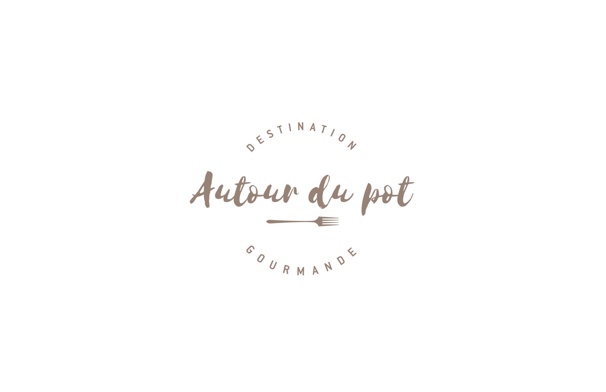 Identité visuelle d'Autour du pot - Bistro & Épicerie gourmande.