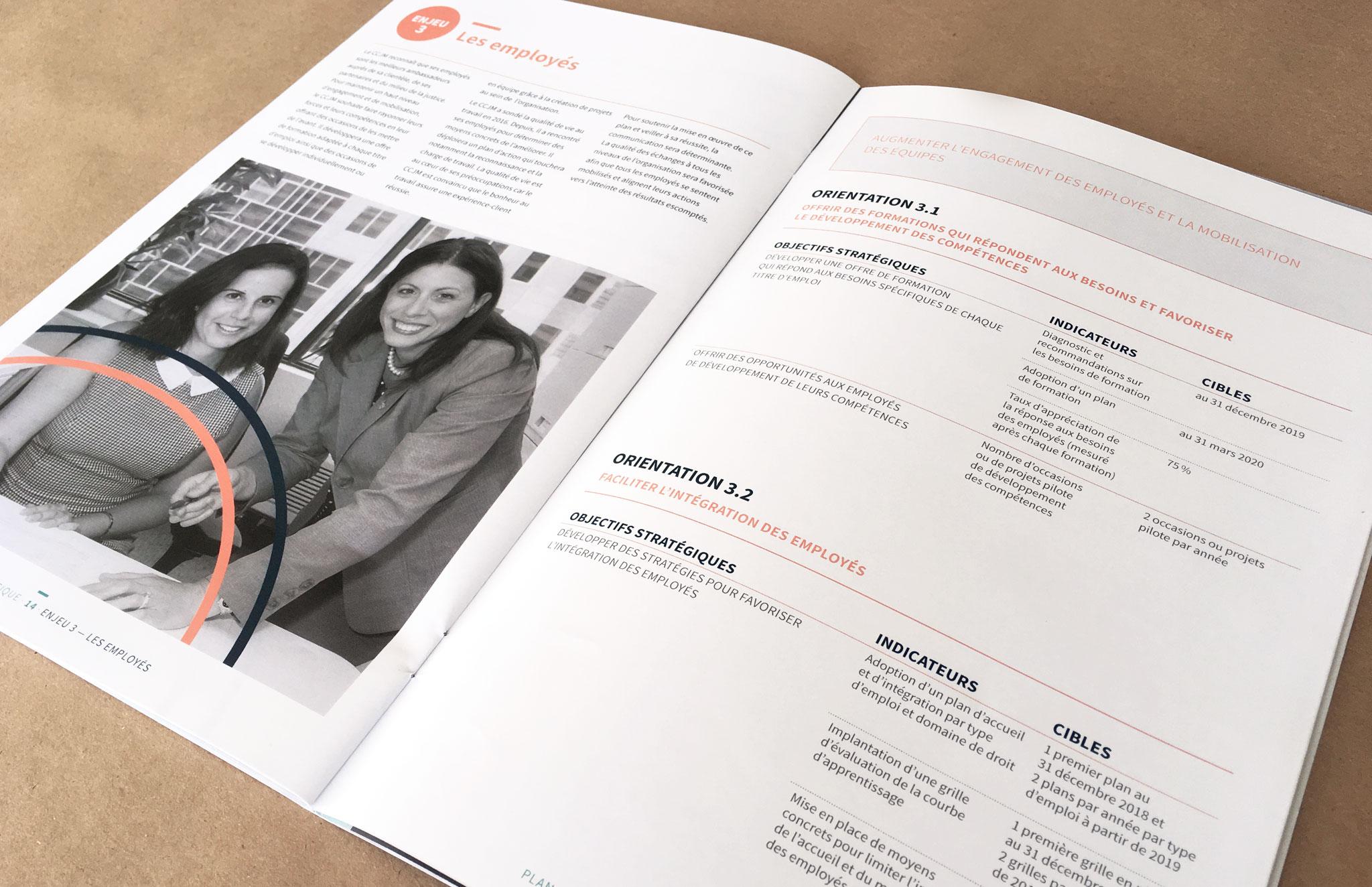 CCJM - Centre communautaire juridique de Montréal nouvelle ligne graphique et outils corporatifs.