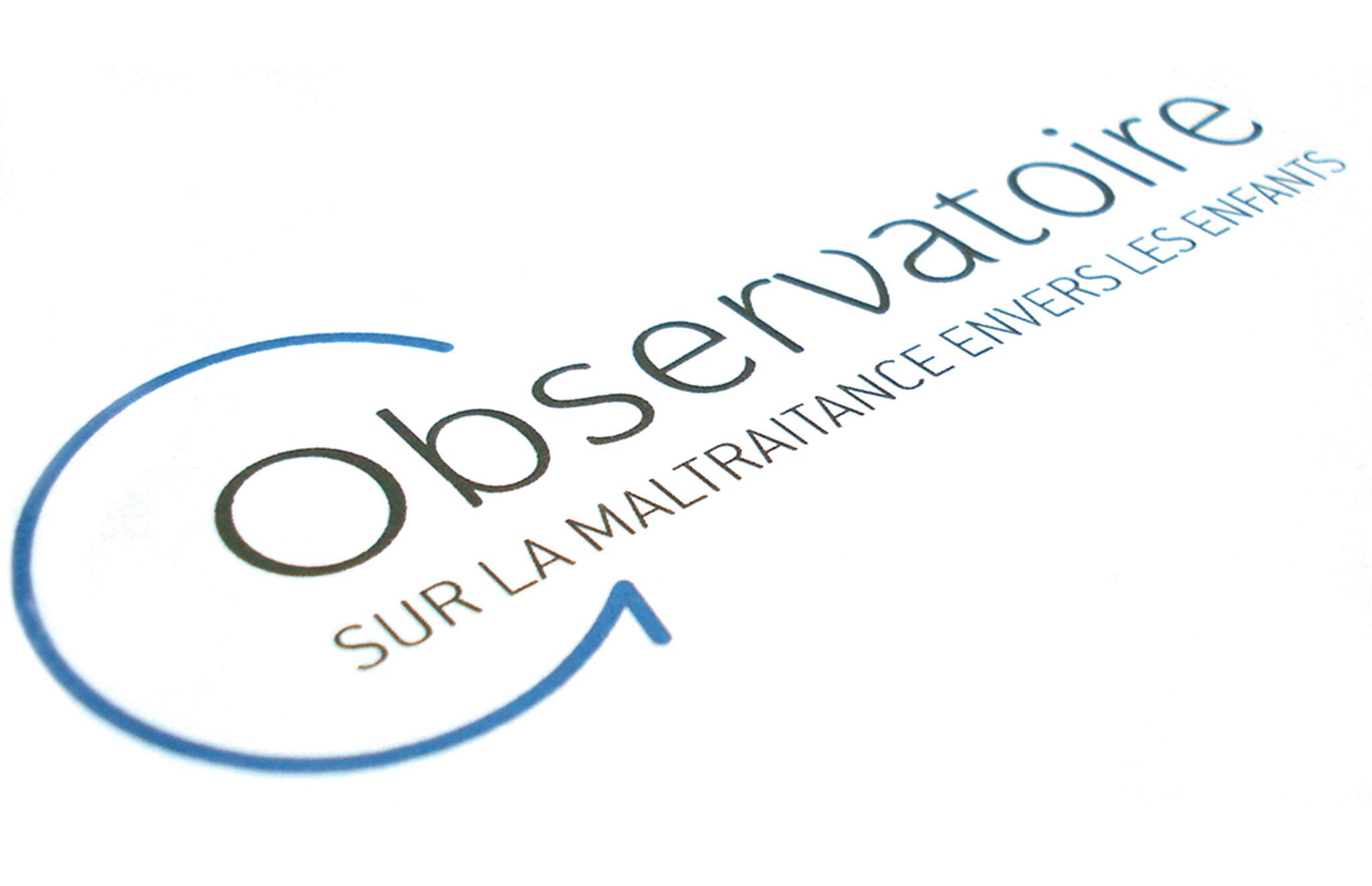 Identité visuelle du nouvel observatoire sur la maltraitance envers les enfants du Centre Jeunesse.