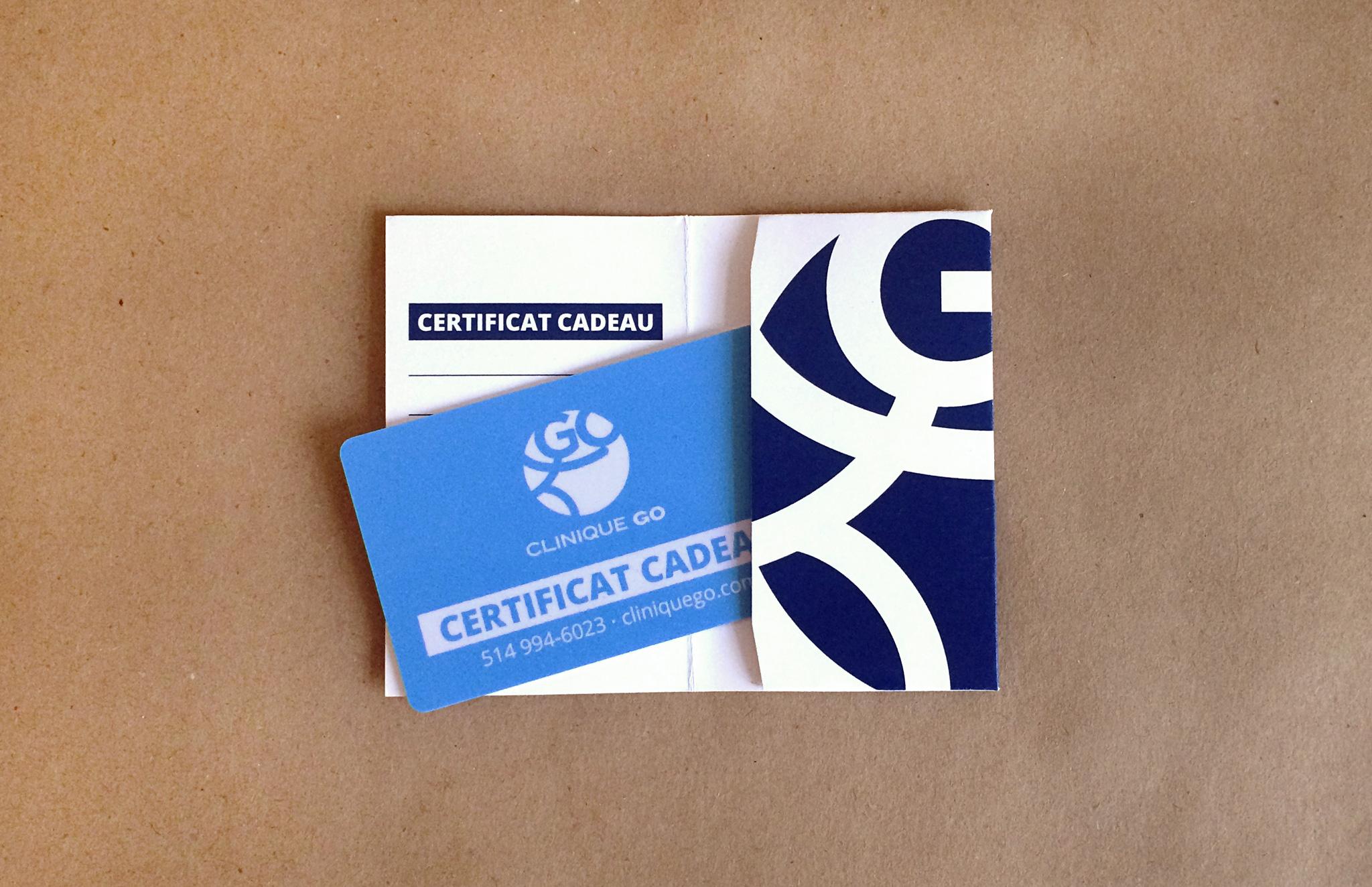 Carte cadeau Clinique GO.