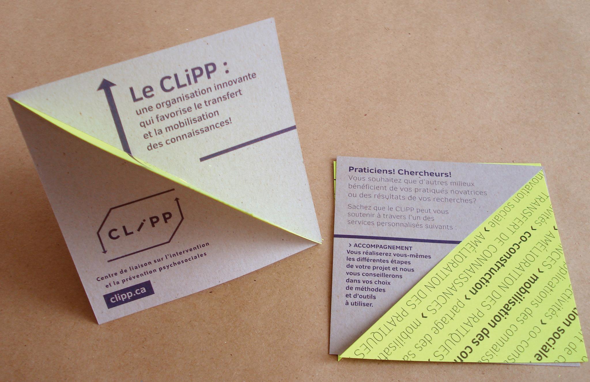 Dépliant ludique du CLIPP.