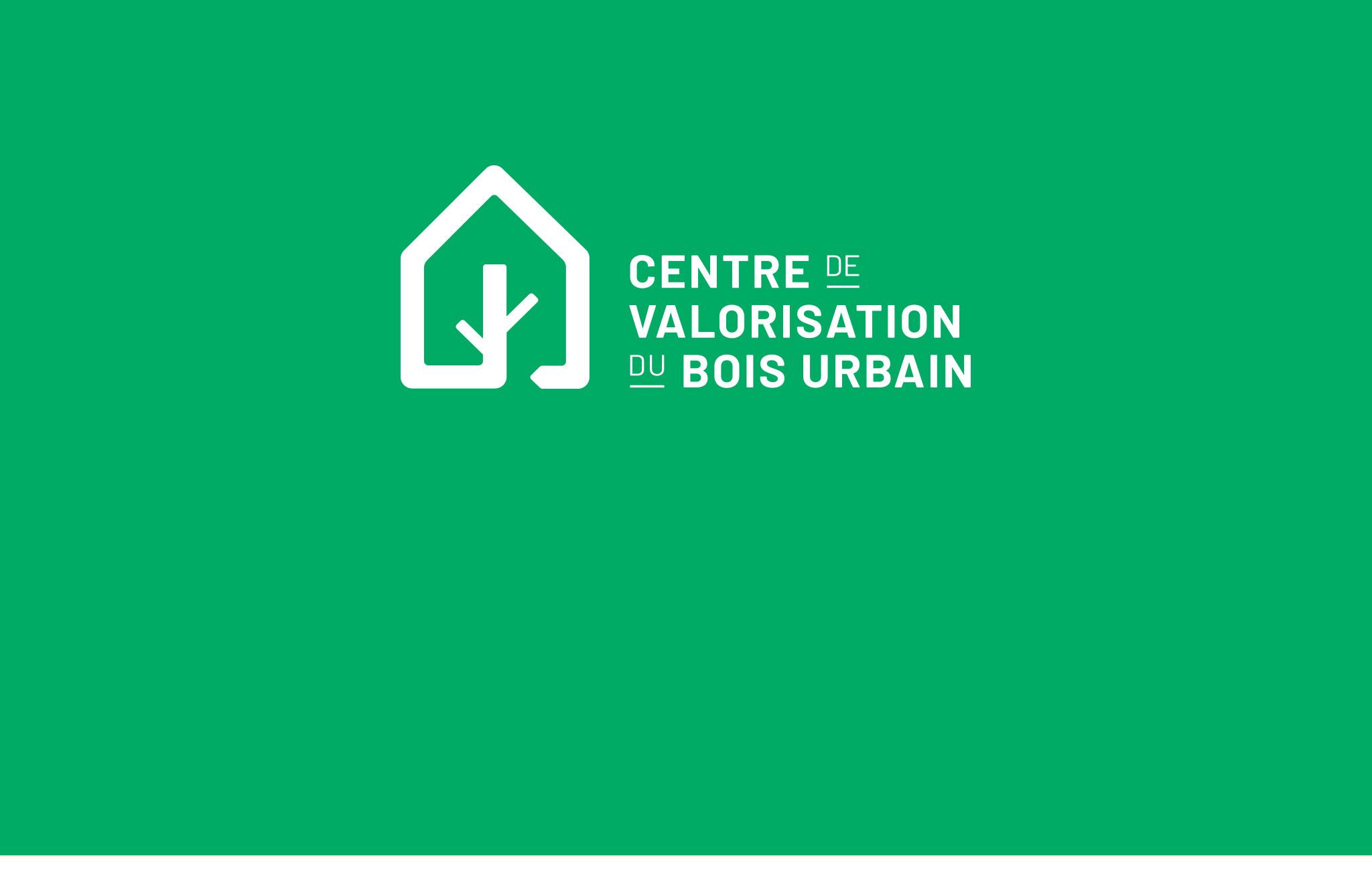 Nouvelle identité visuelle, logo, carte d'affaires du Centre de valorisation du bois urbain.