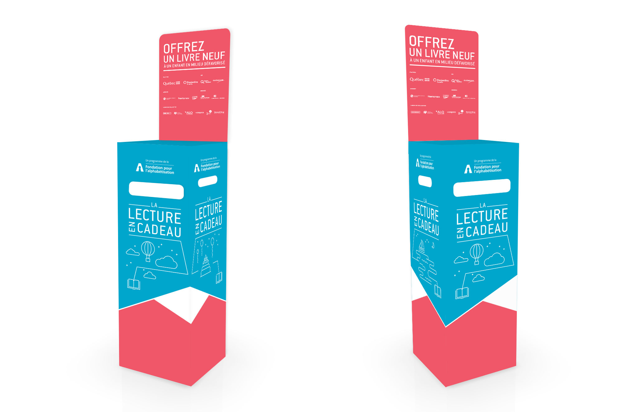 Campagne La lecture en cadeau 20 ans, Fondation pour l'alphabétisation.