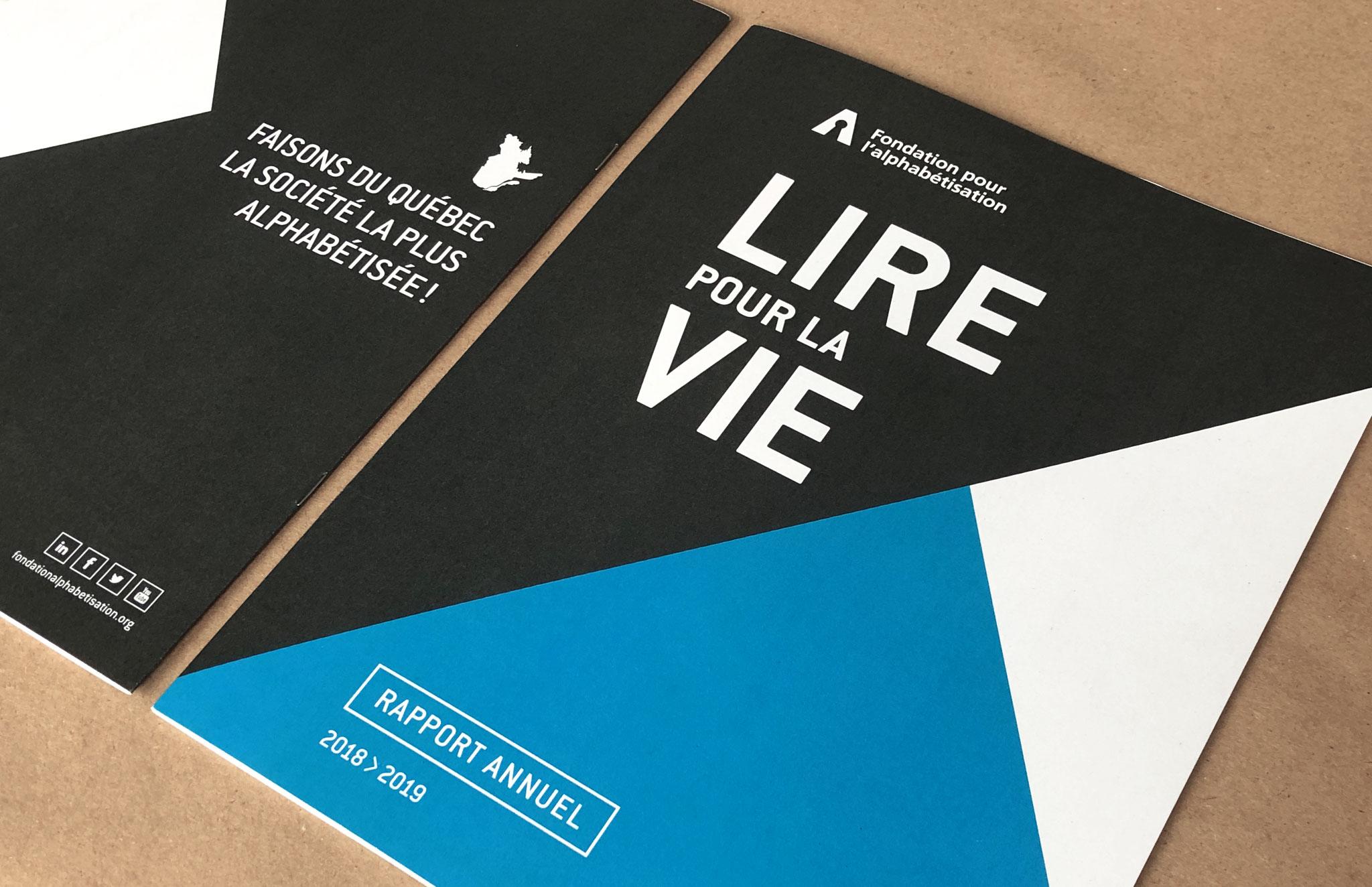 Rapport annuel de la Fondation pour l'alphabétisation.