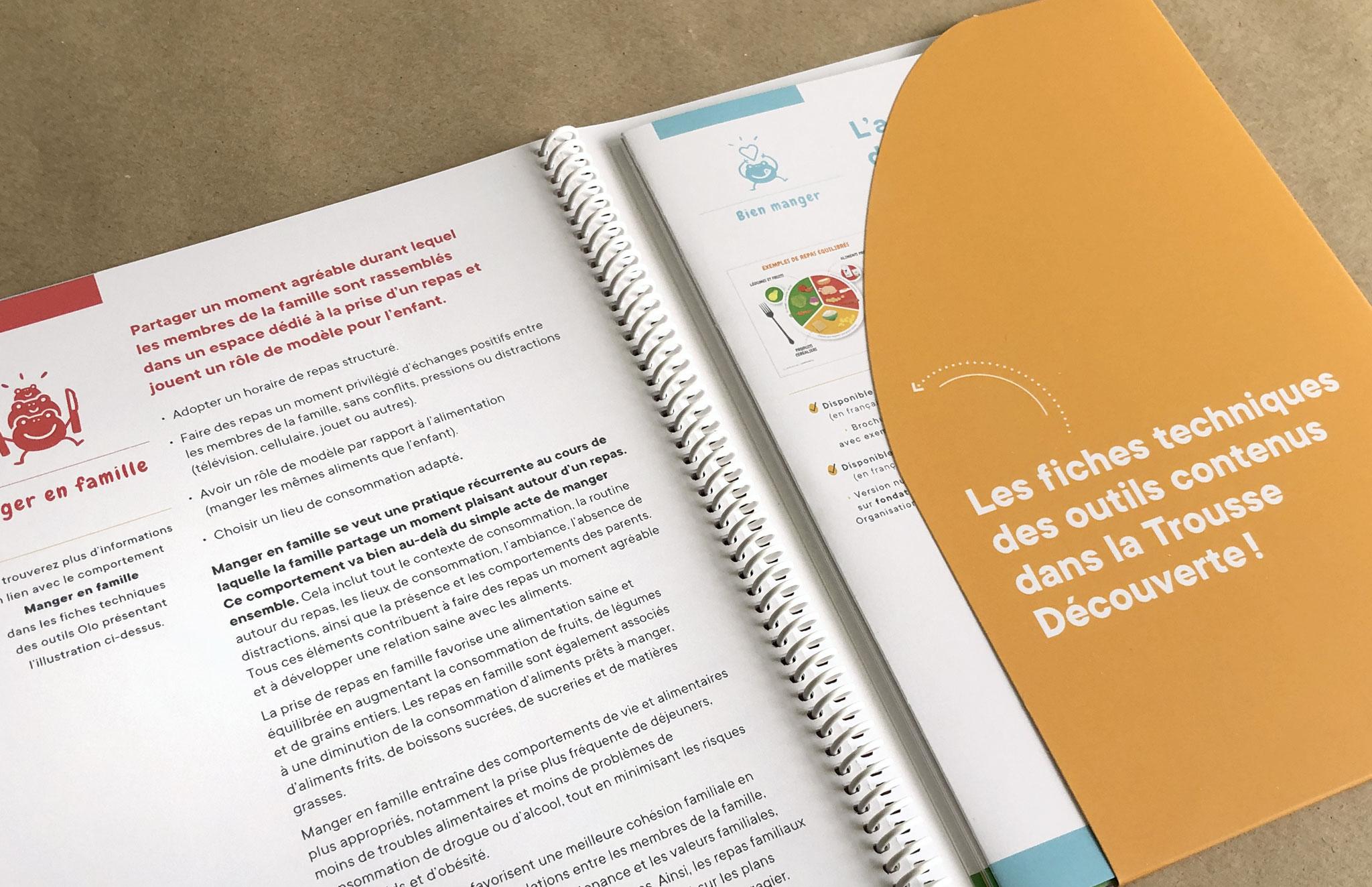Fondation Olo outils de communication du le programme 1000 jours pour savourer la vie.