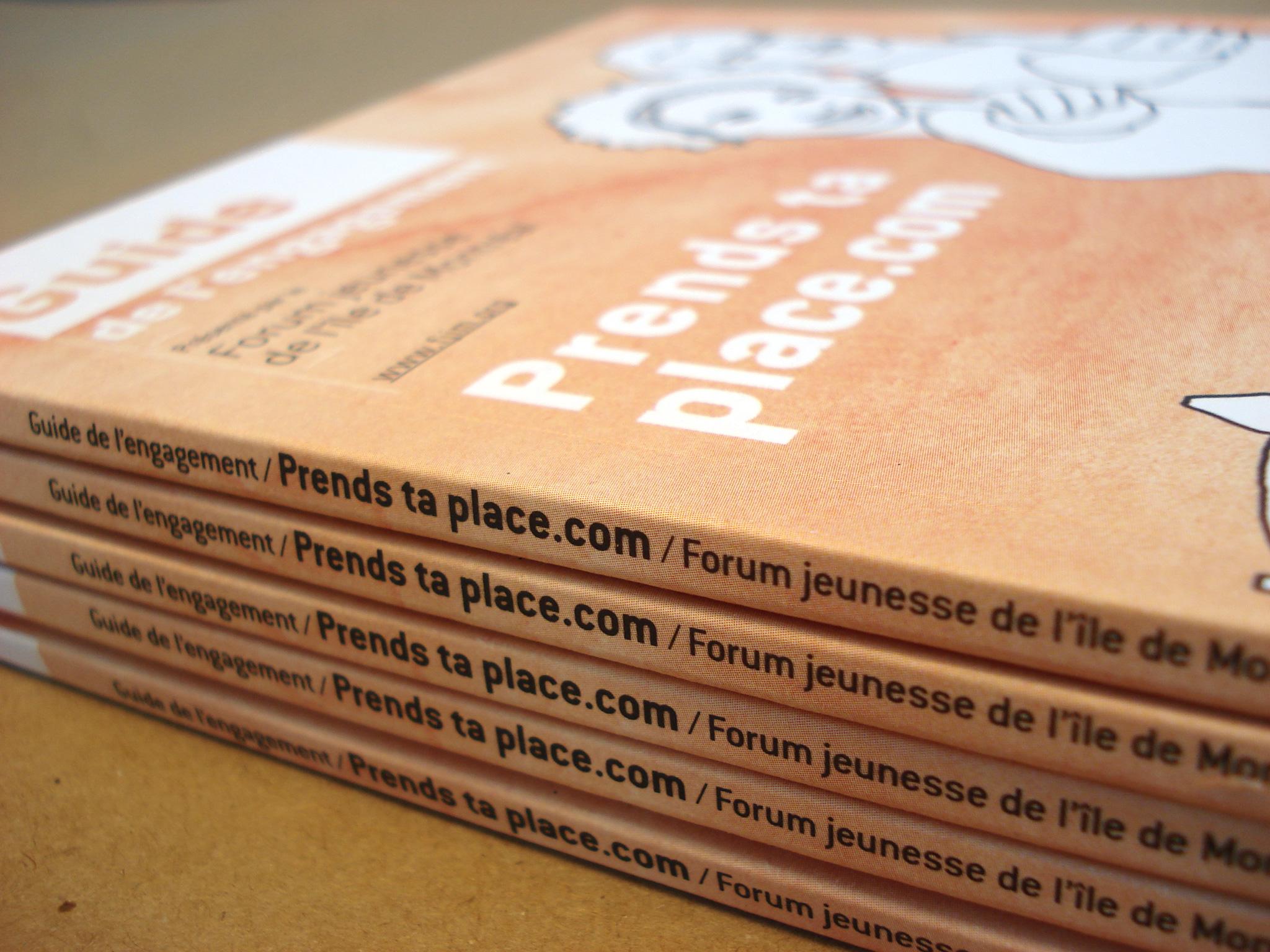 Visuel et grille graphique du Guide de l'engagement de Forum Jeunesse.