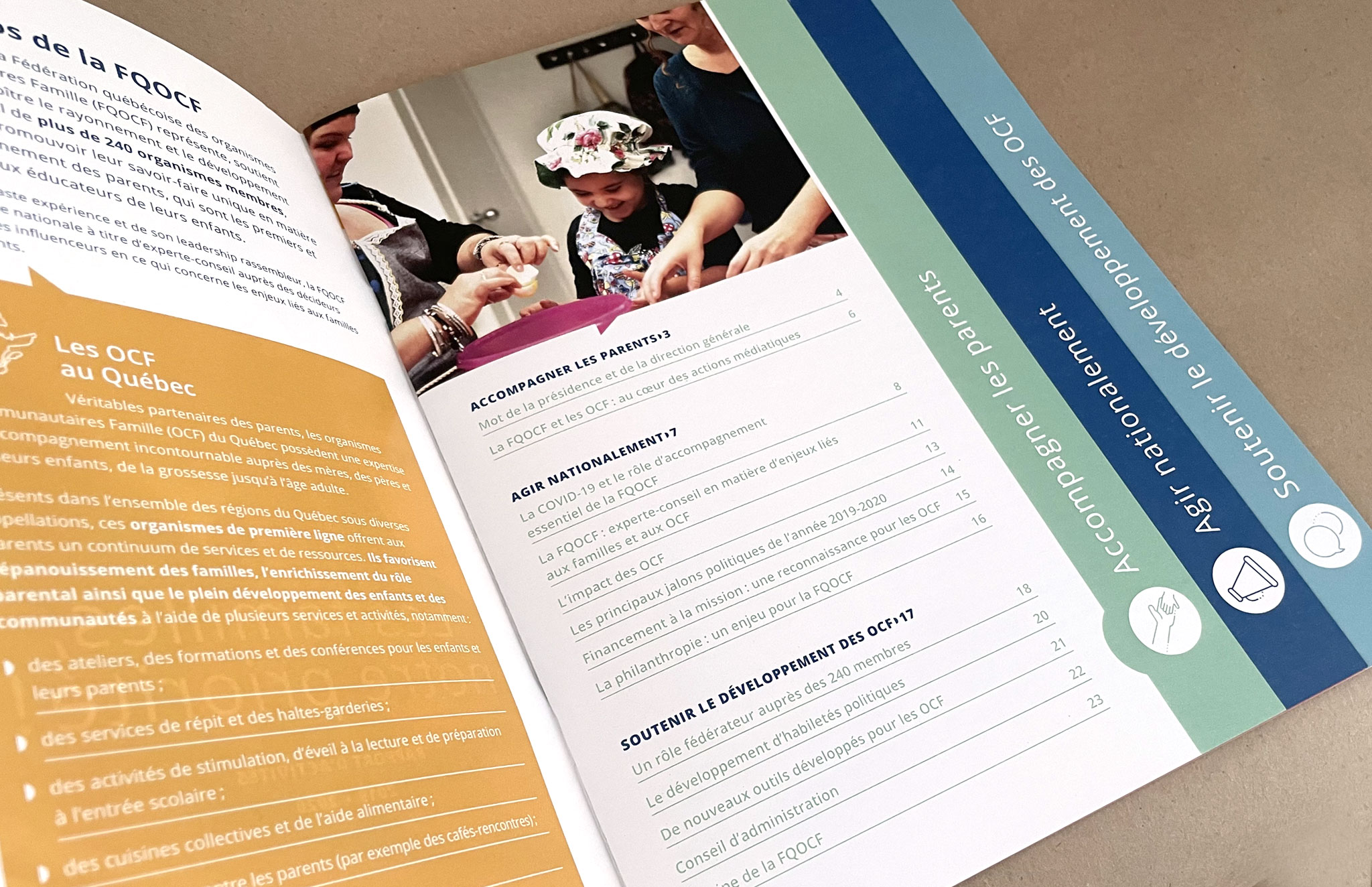 Rapport d'activités de la Fédération québécoise des organismes communautaires Famille.