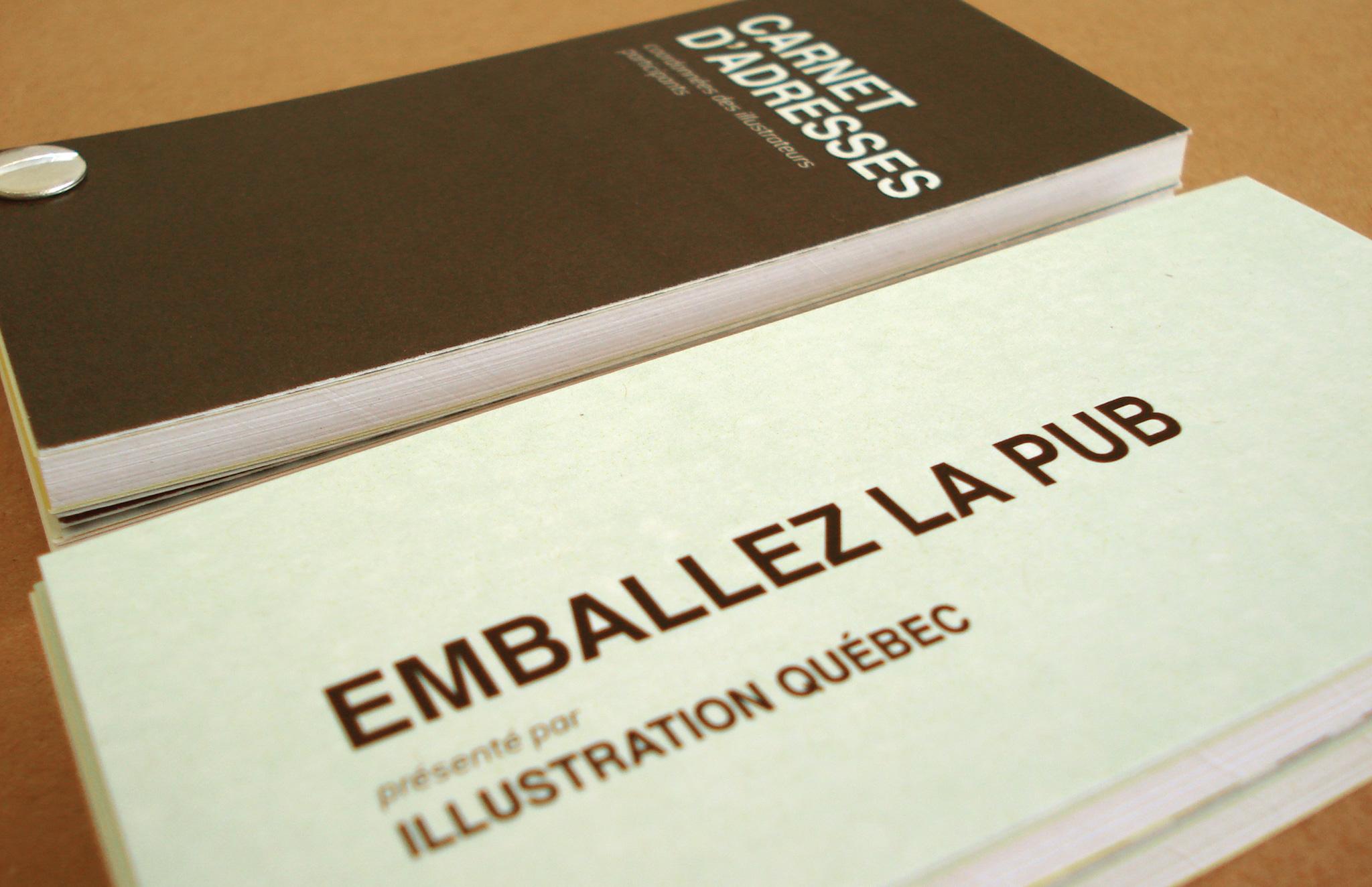 Projet Emballez la pub d'Illustration Québec.