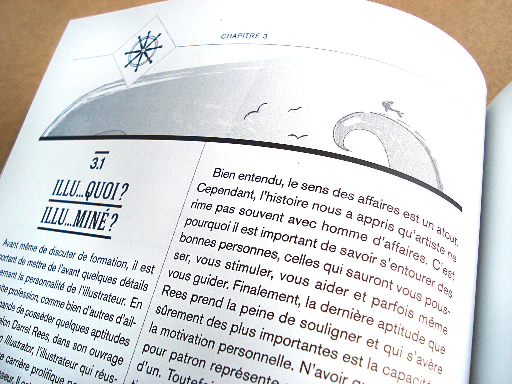 Guide de survie d'Illustration Québec.