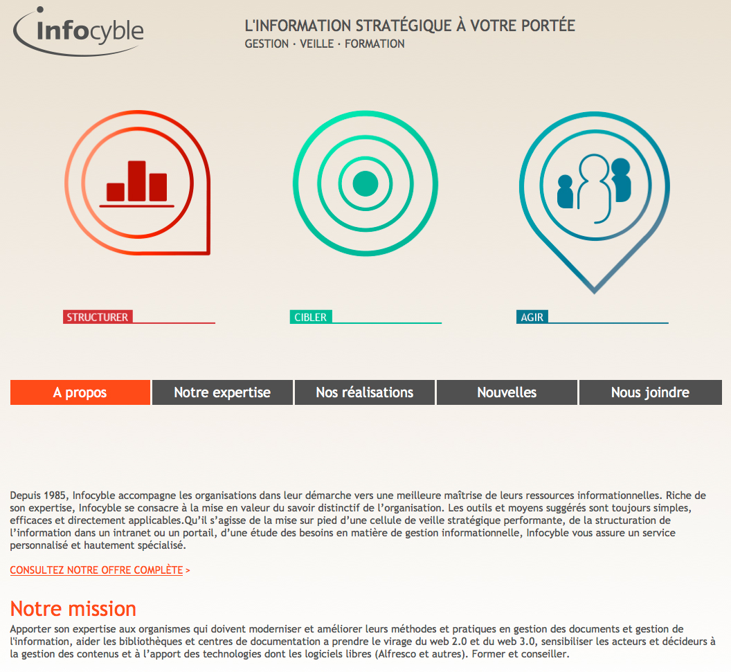 Interface web pour Infocyble.