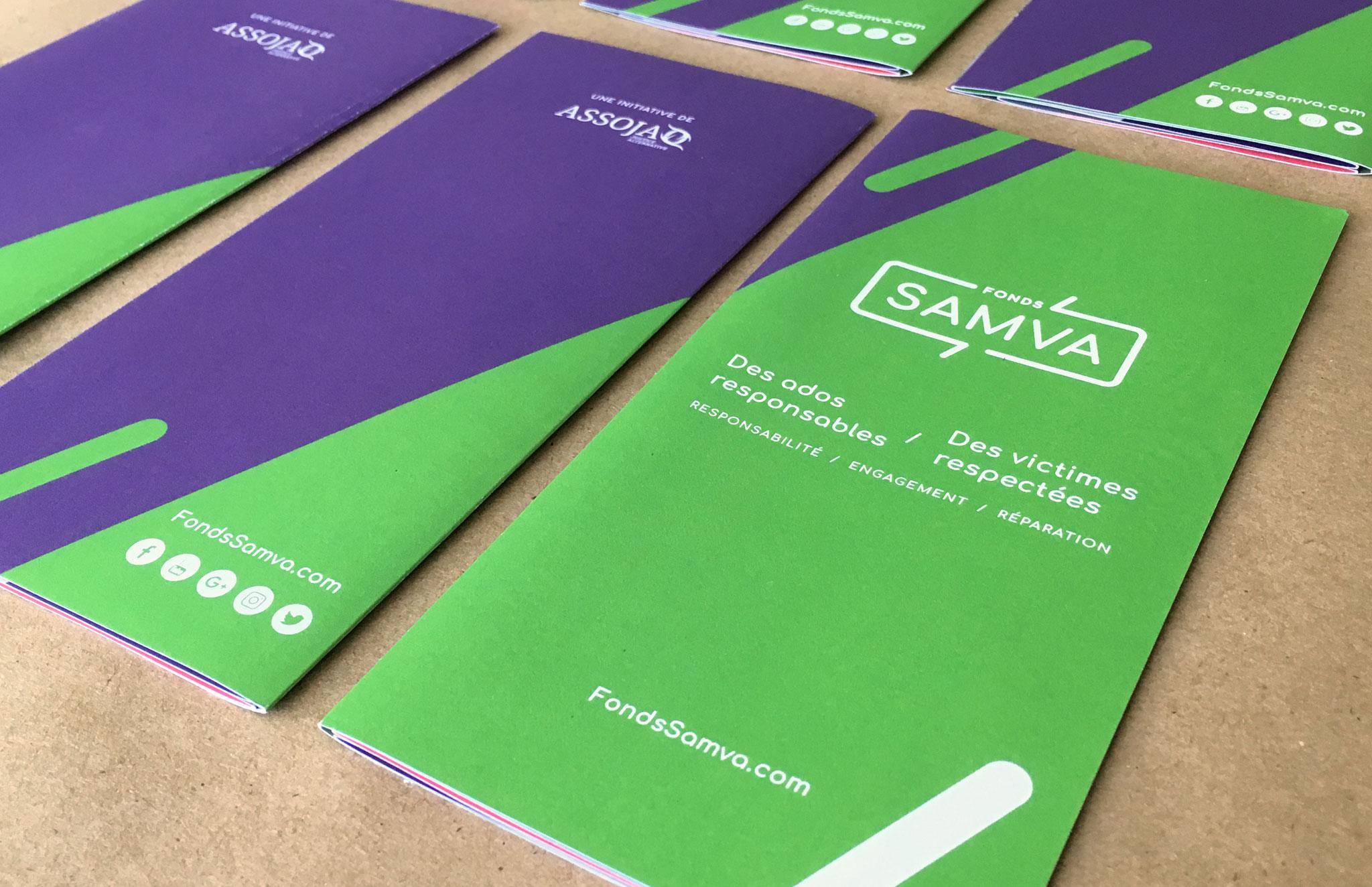 SAMVA - Fonds d'aide aux victimes - Identité visuel & outils de communication.