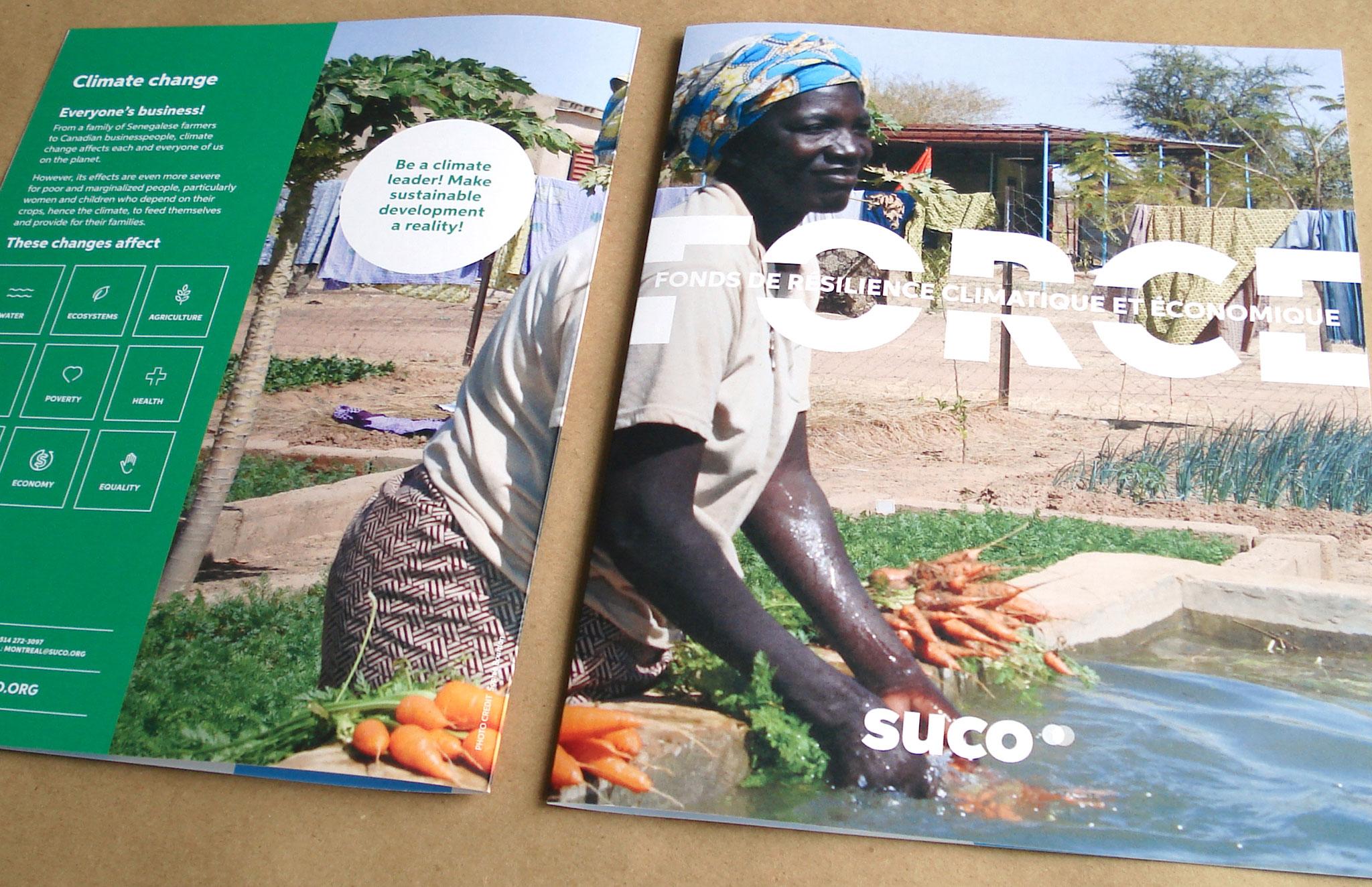 Feuillet informatif - Fonds de résilience climatique et économique - FORCE de Suco.