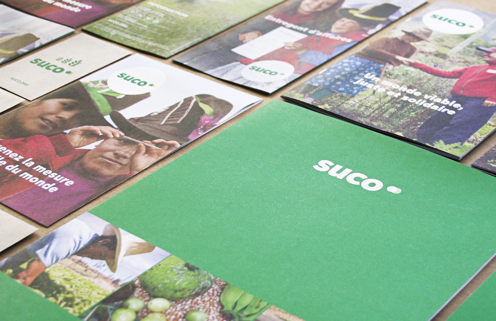 Dépliant, brochure, publipostage et outils promotionnels de Suco.