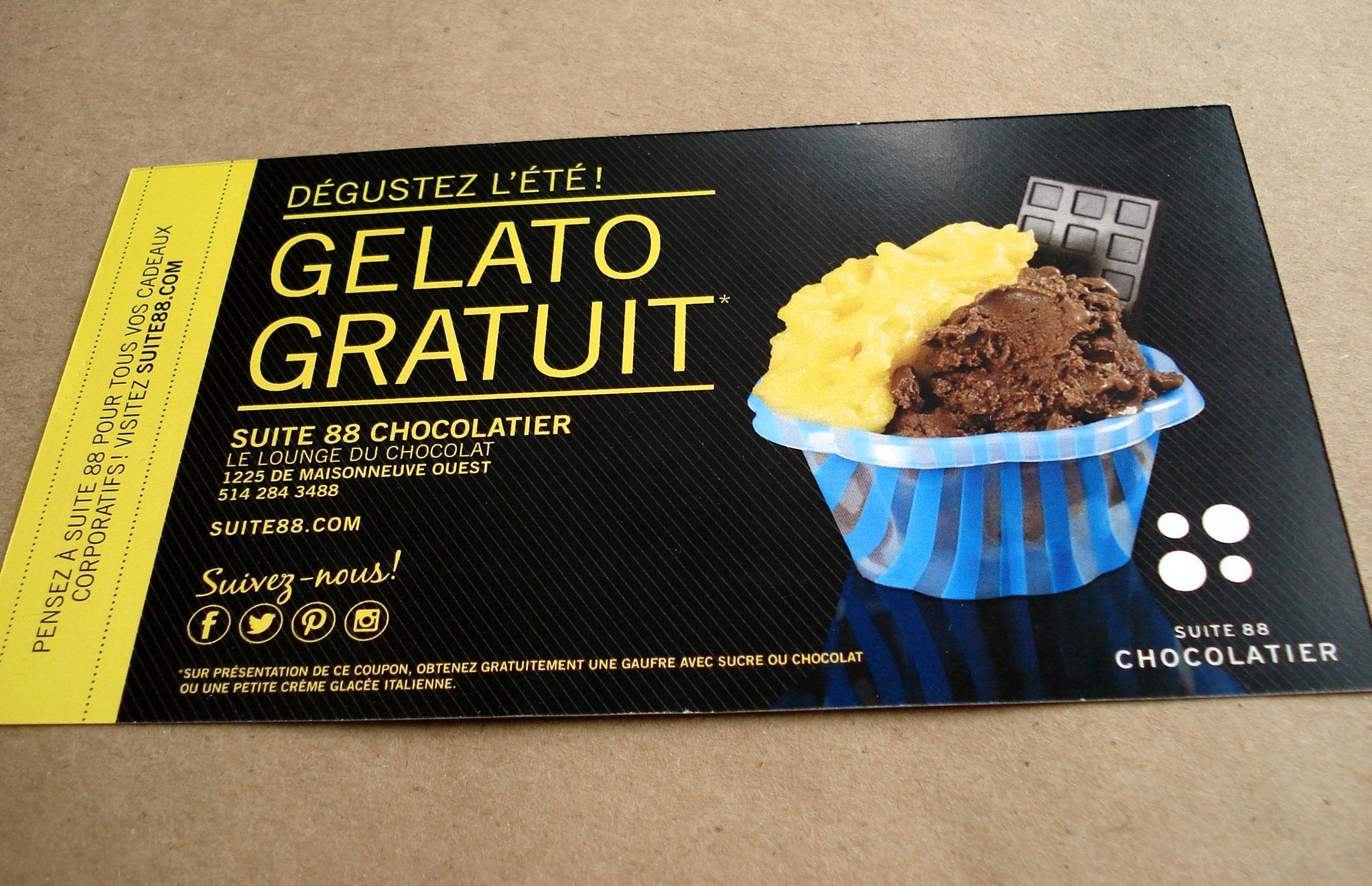 Outils promotionnels et boutique en ligne pour Suite 88 Chocolatier.