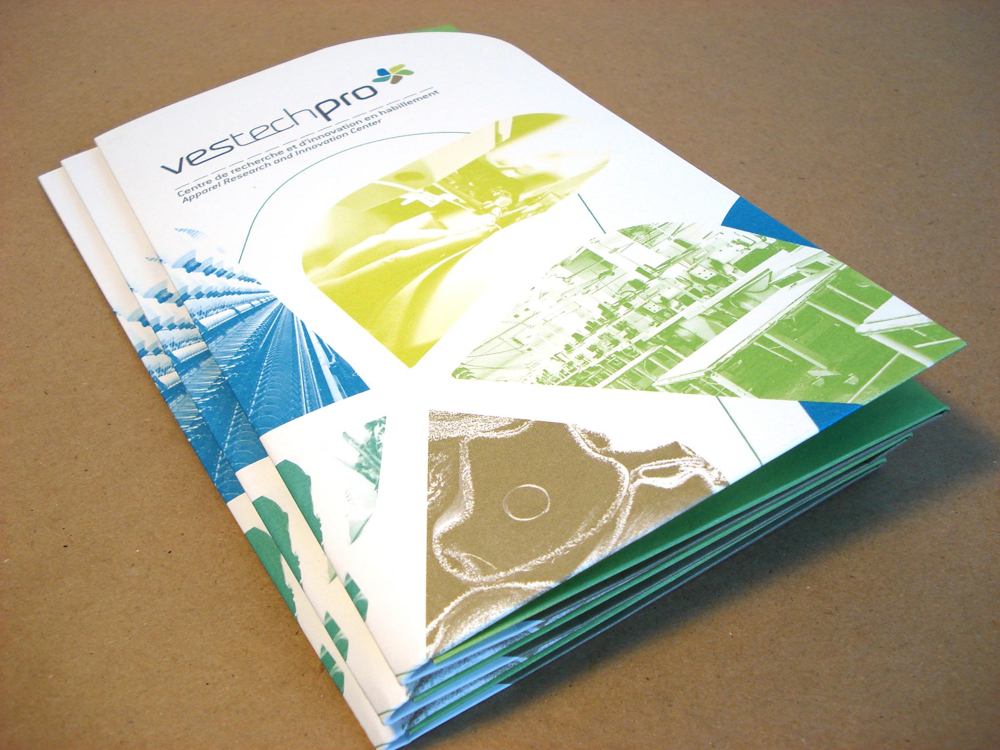 Dépliant-pochette de Vestechpro.