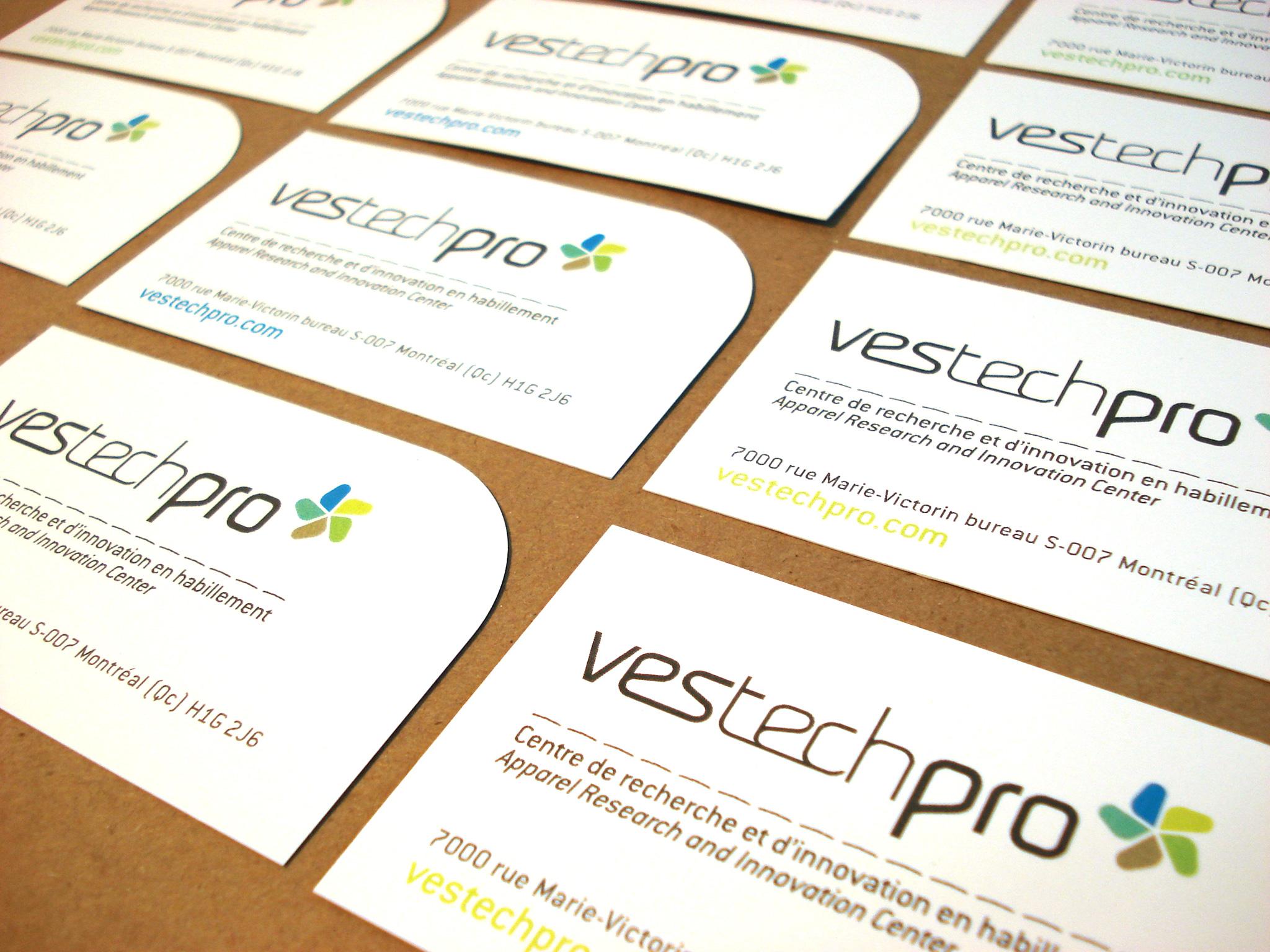 Logo et cartes d'affaires de Vestechpro.