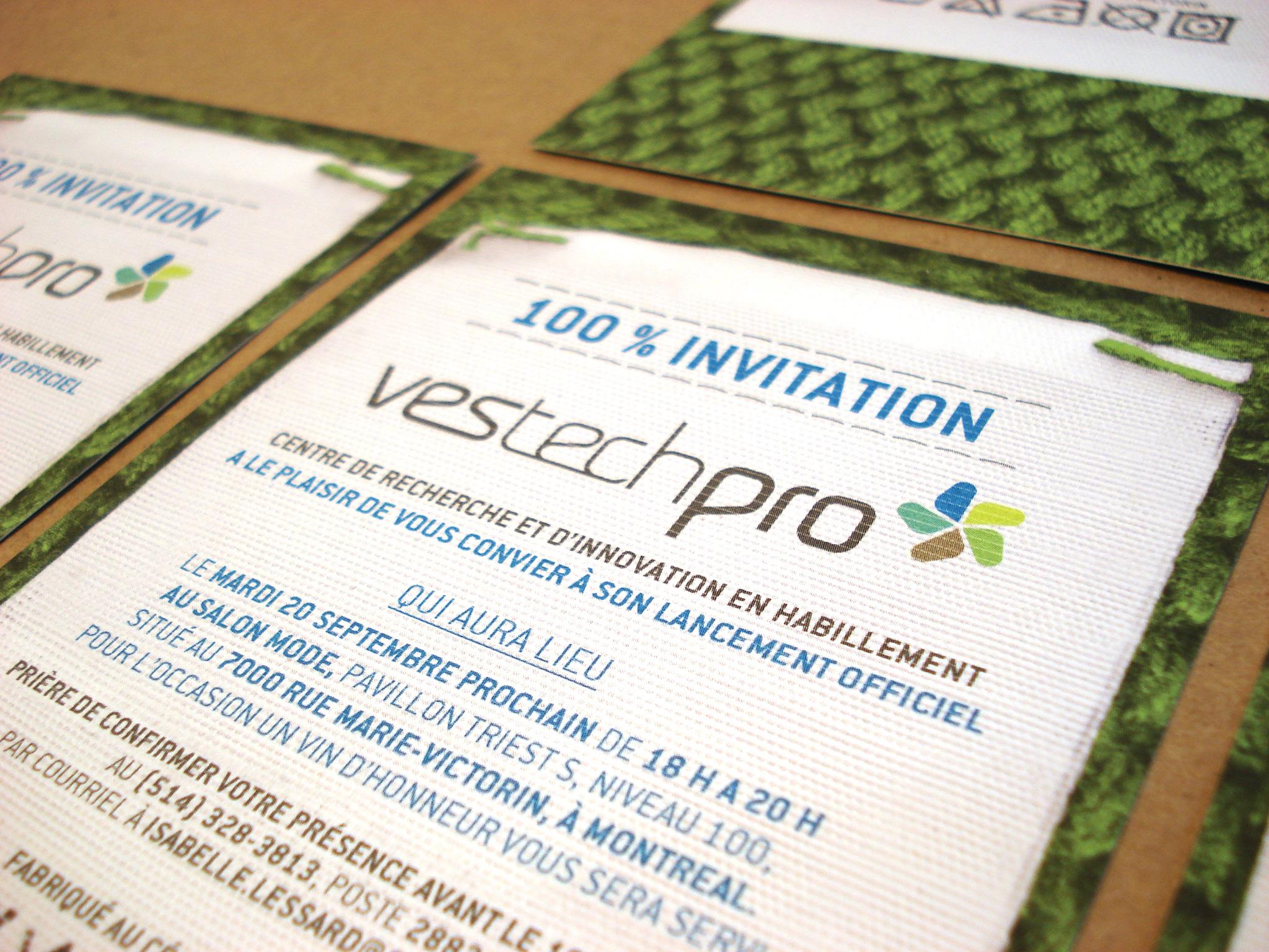 Carton d'invitation de Vestechpro.